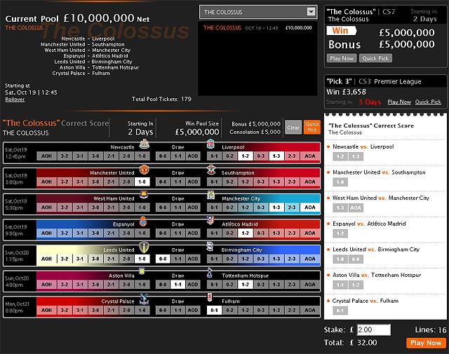 Този уикенд да спечелим £10,000,000 със скромен залог  в Colossus Bets