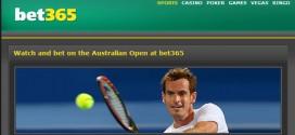 bet365 с пряко предаване и залози на живо от Australian Open